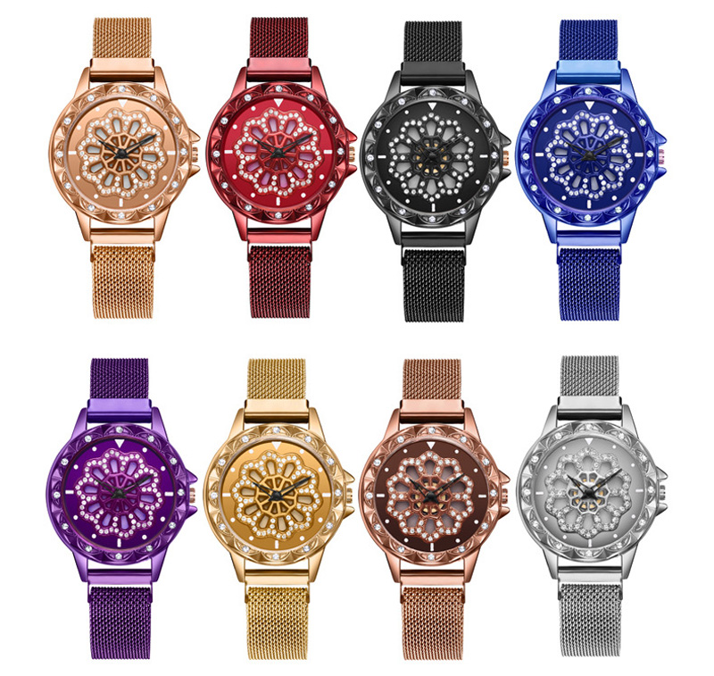 360-degree-rotation-Women-Watch-Mesh-Magnet-Starry-Sky-Ladies-Watch-Luxury-Fashion-Geometric-Quartz-Watch 1