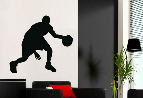 Free Shipping Passion Basketball Player High Waterproof Wall Sticker Decal Wallpaper For Home Decoration Y-269