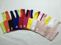 9 Colors Ladies HL Bandage Tops Candy Color Sexy Bodycon Tops High Quality