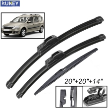 Xukey 3Pcs/set Front Rear Windscreen Wiper Blades Set For Dacia Renault Logan MK1 MCV 2012 2011 2010 2009 2008 2007 20