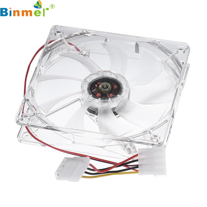 Binmer Factory Price 12CM CPU Cooling Fan Computer PC Clear Case Quad Heatsink 60321 mecall 8cm computer pc clear case quad cpu cooling fan