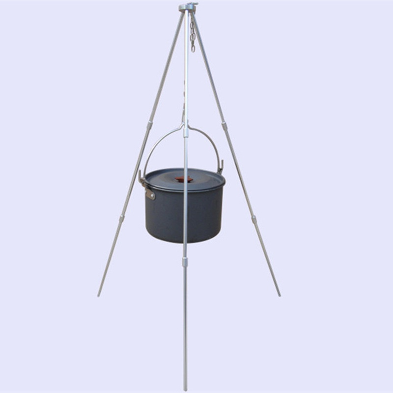 Hanging Tripod Picnic Pot Fire Grill Outdoor Camping Durable Portable Cookw ilUS