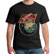 2018 nueva Vintage Russia CCCP Yuri Gagarin camiseta de grupo de hombres equipo Retro soviético Tees Sputnik programa de exploración espacial camiseta