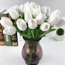 20 Pcs  Artificial Tulip Flower PU Bouquet Real Touch Flowers Home Wedding Decorative Bride Holding