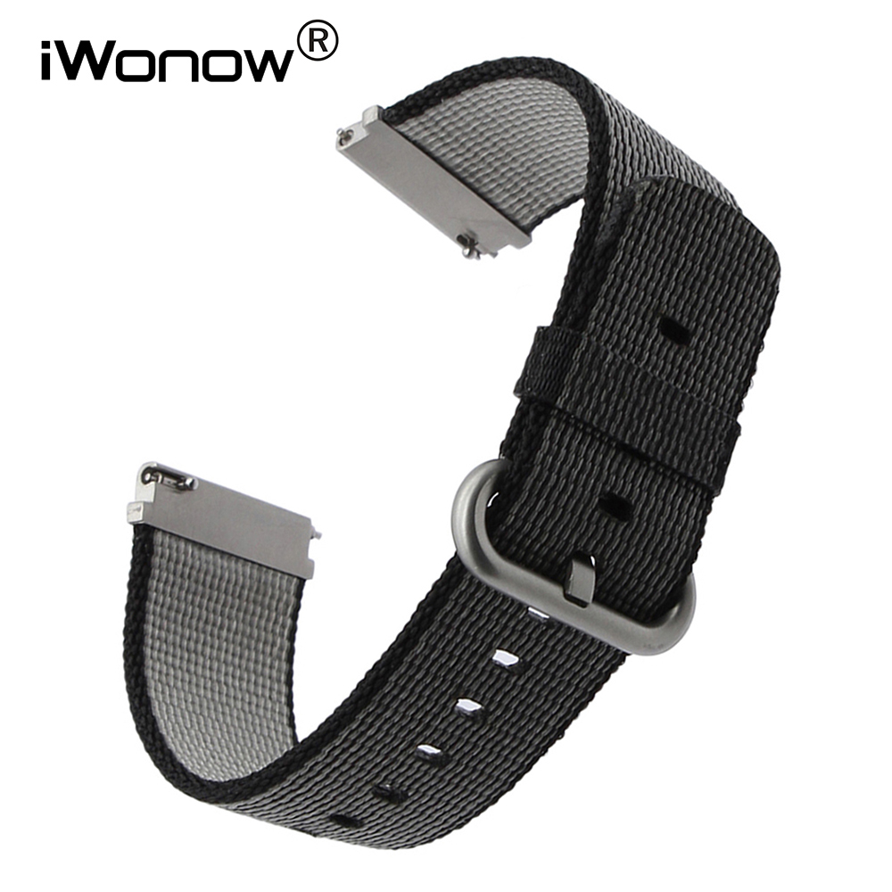 22mm Quick Release Nylon Watchband for Samsung Gear S3 Classic Frontier Gear 2 Neo Live Stainless Steel Buckle Watch Band Strap black silver stainless steel buckle wrist watch straps for samsung gear s2 classic watchband with remover tool free