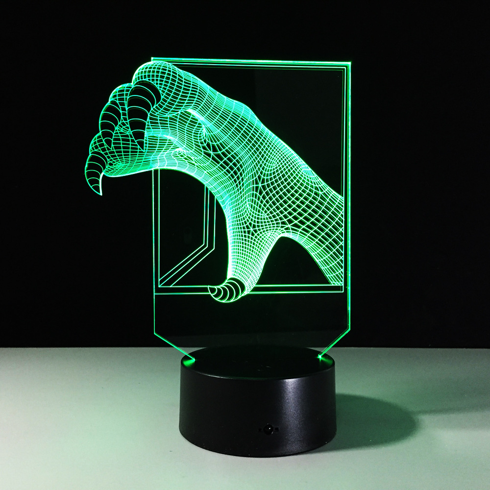 Talons 3D Small Night Light Baby LED 7 Color Chang Bluetooth Speakers lights USB Desk lamp bedroom Reading lamp For Kids Gift