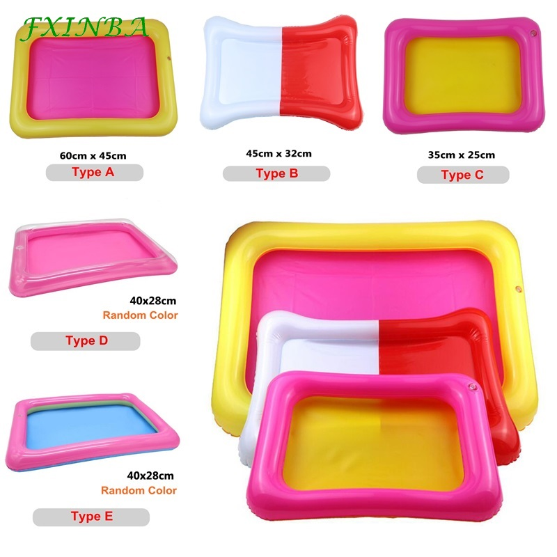FXINBA 5 Types PVC Inflatable Sand Tray Fishing Pool Kids Play Sand Box Molding Clay Mud Slime Supplies Lizun Toys Indoor Beach