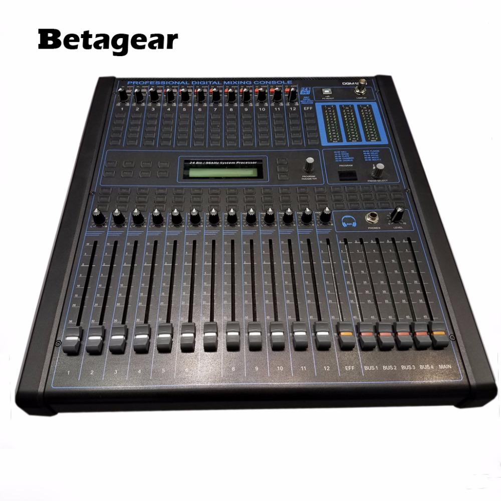Betagear professional digital audio mixing console 12 channel audio dj consola de audio - Professional mixing console ...