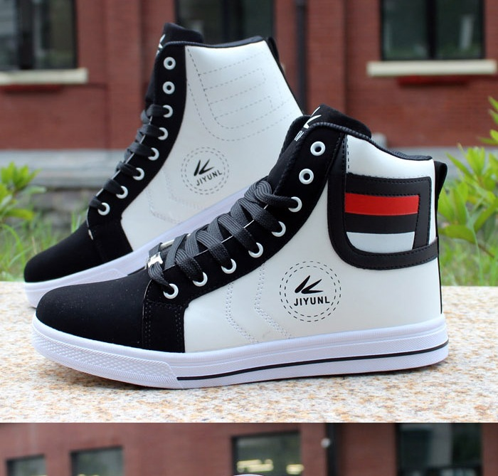 HTB1reZ0Xh rK1RkHFqDq6yJAFXaB - HUANQIU Brand Men Shoes 2018 Spring Fashion Boots Shoes Man High Top Shoes Men Lace Up Casual Shoe Chaussure Plus size 45 ZLL434