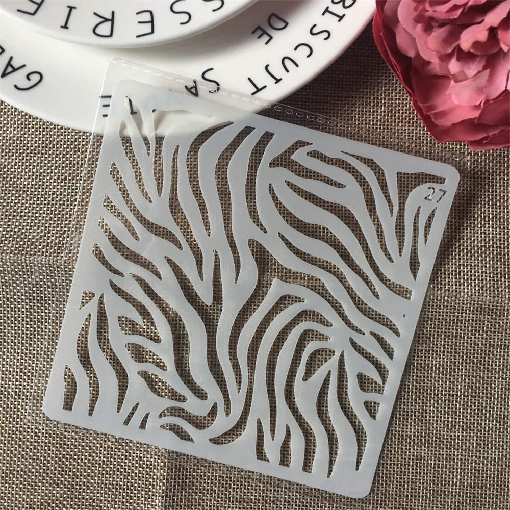 1Pcs 13cm Wood Texture DIY Layering Stencils Wall Painting Scrapbook Coloring Embossing Album Decorative Card Template