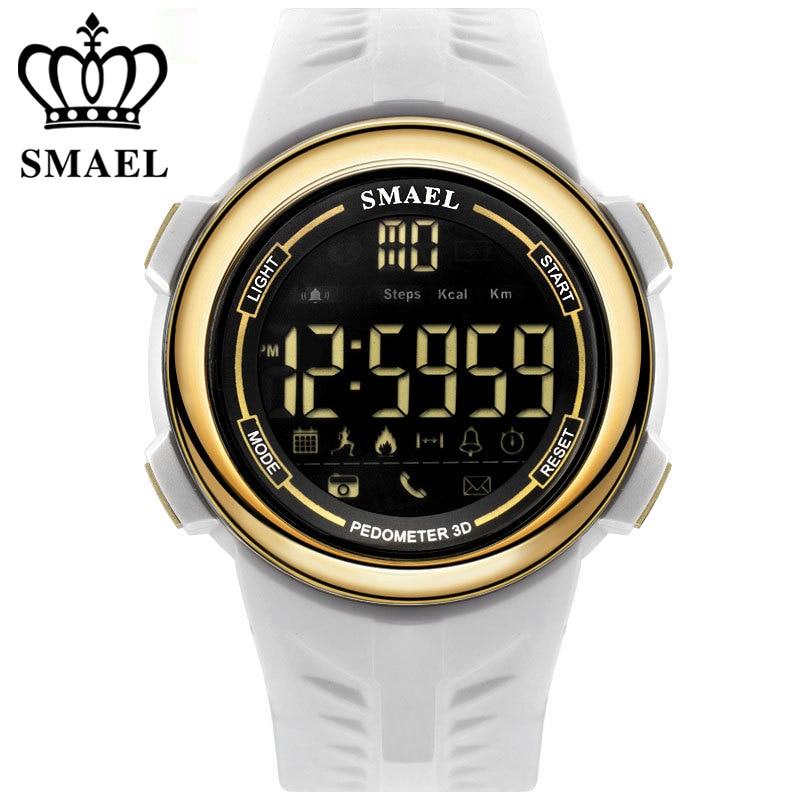 SMAEL Bluetooth Étanche Montre Smart Watch Soutien Appel et SMS alerte Podomètre Sport Activités Tracker Montre-Bracelet Smartwatch