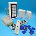 Полный комплект деревянная металлическая система контроля допуска к двери 125 кГц Rfid карта клавиатура система контроля доступа комплект + Эл...