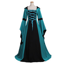 Gothic Medieval Dress Victorian Elizabeth Hooded Dress Cosplay Costume Carnival Party Dress Custom Made
