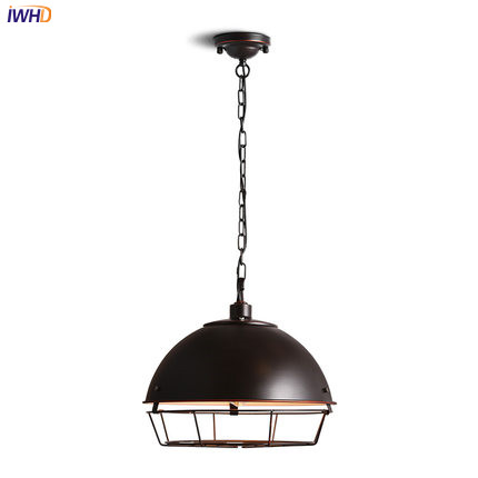 IWHD Loft Style Vintage LED Pendant Lights Fixtures Living Room American Iron LED Edison Industrial Light Home Lighting iwhd american retro vintage pendant lights fixtures edison loft industrial pendant lighting hanglamp lampen wrount iron