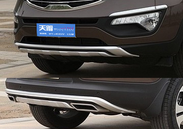 Kia Sportage 2010+,Front Rear Bumper Protector Body Kits Guard Plate,ABS,Free Shipping
