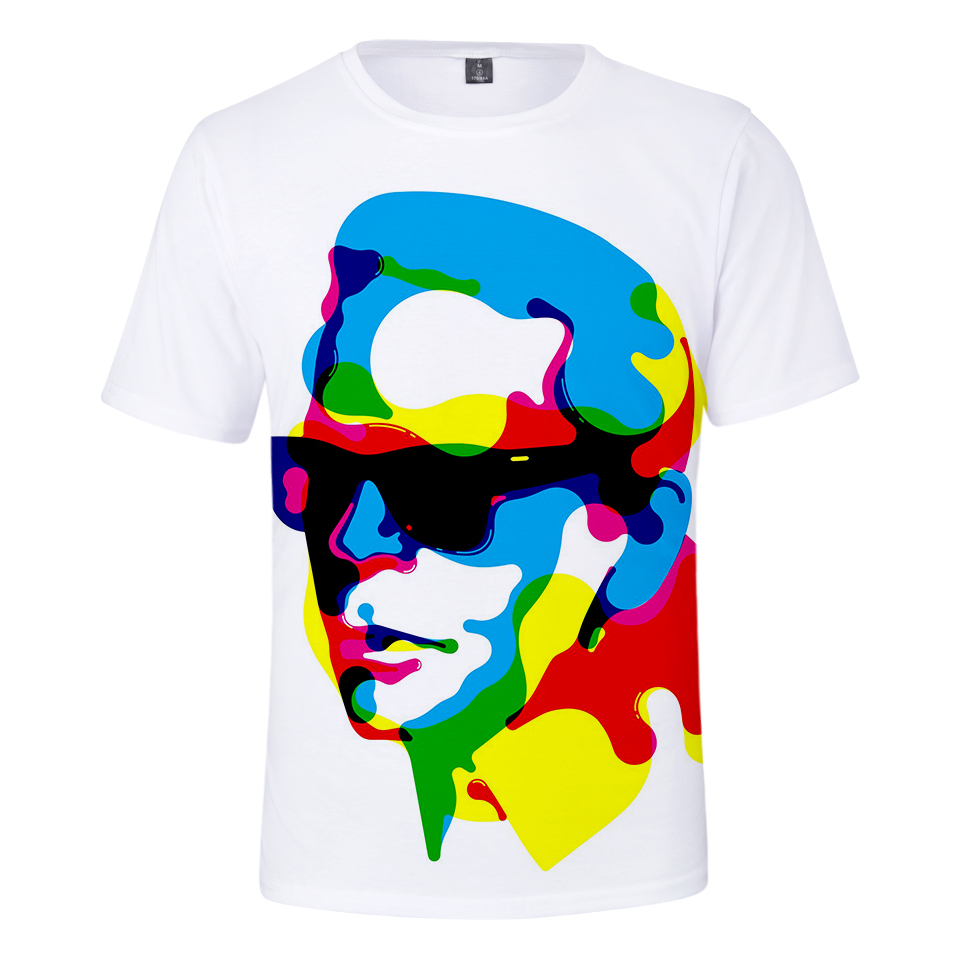 0d405653fb New sale Karl Lagerfeld 3D T shirt Men/Women Casual New Summer tshirts 3D  Print Karl Lagerfeld t-shirt Men Fashion Harajuku coat
