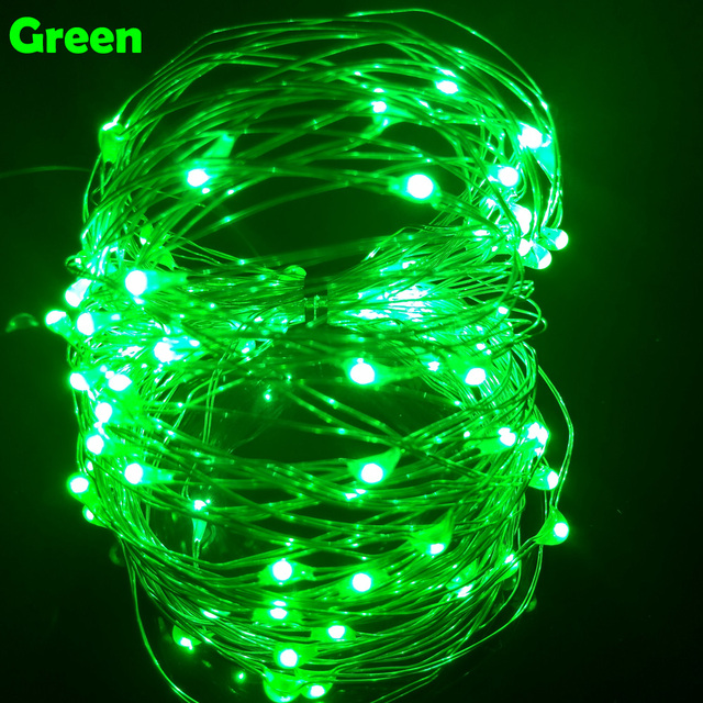 10M 33FT 100 led USB Outdoor Led Copper Wire String Lights Christmas Festival Wedding Party Garland Decoration Fairy Lights 2