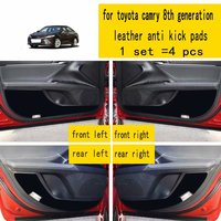 4 Pcs Leather Car Styling Anti Kick Pads Anti dity Doors Mat Accessories for Toyota Camry XV70 8th Generation 2018 2019 2020