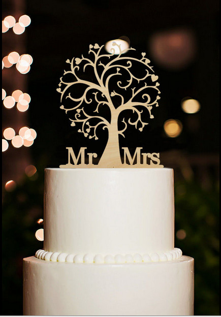 wooden wedding cake toppers mr and mrs cake topper wood cherry blossom tree rustic 1488