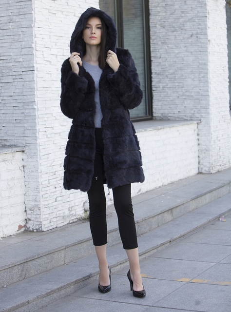 Real Fur Classic Natural Rabbit Fur Outerwear 3