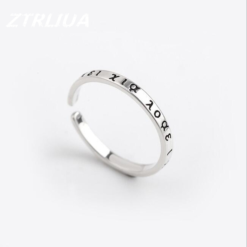 Retro Exquisite Original Jewelry 925 Sterling Silver Greek Opening Thai Silver Wild font b Ring b