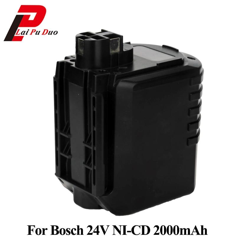 For Bosch Replaceable Power tool battery Ni-CD 24V 2000mAh GBH 24VFR 11225VSR 2 607 335 082,2 607 335 083, 2 607 335 097, BAT021 new 24v ni mh 3 0ah replacement rechargeable power tool battery for bosch bat299 bat240 2 607 335 637 bat030 bat031 gkg24v