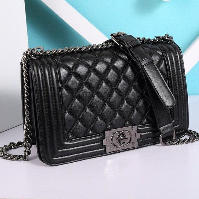 194972a43 Bolso de cadena acolchado para mujer, bolso bandolera, bolsos de lujo de  marcas famosas