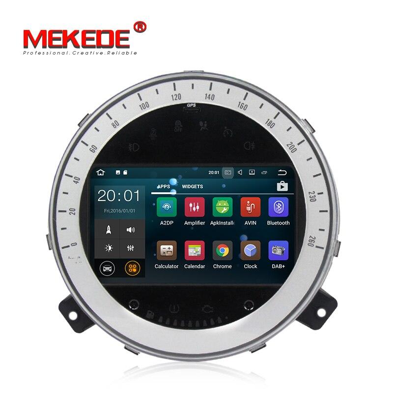 MEKEDE Android 7.1 Quad Core 2 gb Voiture DVD GPS Navigation Lecteur Stéréo De Voiture pour BMW Mini Cooper 2006- 2013 Radio Headunit WIFI