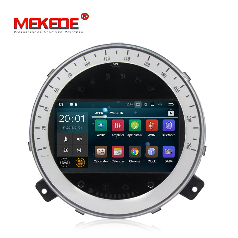 MEKEDE Android 8.1 Quad Core 2GB Car DVD GPS Navigation Player Car Stereo for BMW Mini Cooper 2006-2013 Radio Headunit WIFI image
