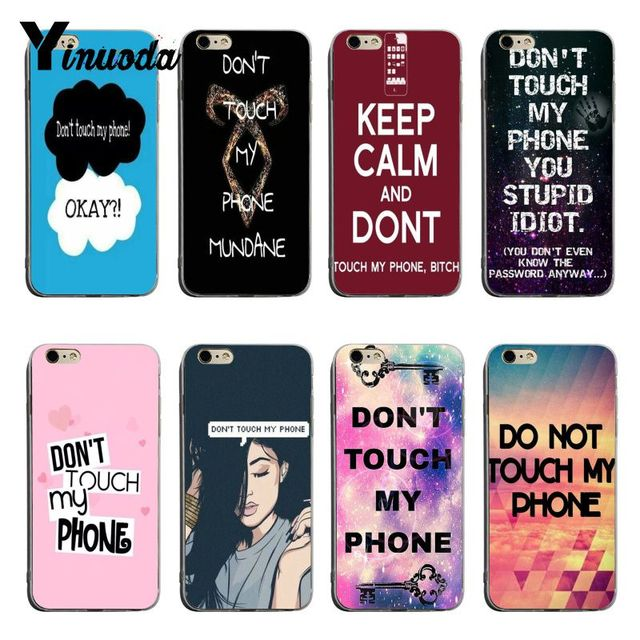best loved 0640c e525d US $0.52 47% OFF|Yinuoda Dont Touch My Phone Fashion Luxury phone case  accessories For iPhone 6 6s 6plus 7 7Plus 8 8Plus X XS XR Mobile Cover-in  ...