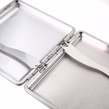 20 Cigarette Case Storage Holder Aluminum Storage Box Container Double Sided Flip Open Cigarette Case Gift MAYITR