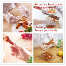 95Pcs High Quality Disposable Gloves Food Service Hand Protection Transparent Beauty Household Cleaning Kitchen Necessary Dispos