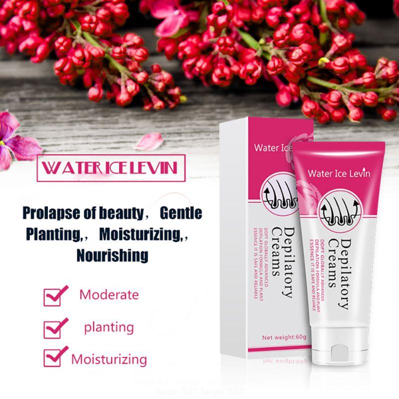 Vattenis Levin Smärtfritt Depilatory Cream Ben Skyddskräm - Rakning och hårborttagning - Foto 4