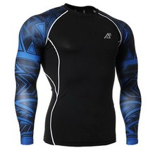 Life on Track Men's Yoga Shirts Long Sleeve Running Shirts Tops Compression Tights Fitness Workout Quick Dry Breathable Shirts