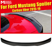 For Ford Mustang Coupe A-Style Rear Spoiler High-quality Carbon Fiber Rear Frunk Spoiler Wing Lip car styling Auto Part 2015-16 gt style carbon fiber rear wing carbon fiber car rear wing trunk lip spoiler for ford mustang 2015 up gt 350