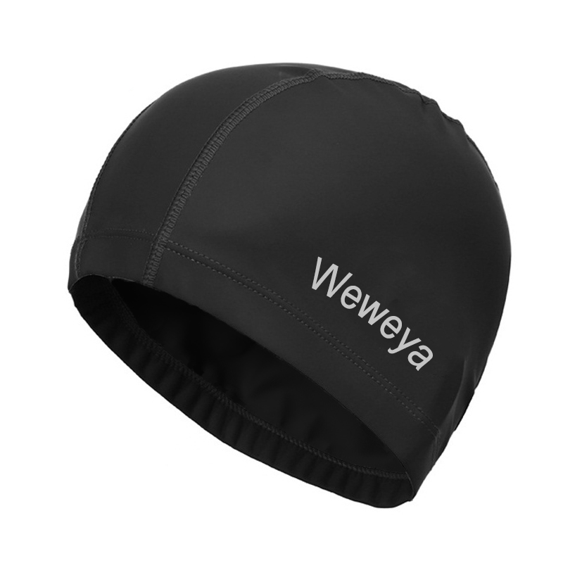 Unisex Waterproof Swimming Cap For Long Hair High Elastic PU Fabric Swimming Hat Protect Ears Free Size for Men & Women Adults Шапочка для плавания