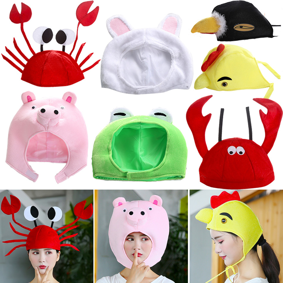 767a8d6e101 Funny Red Lobster Crab Sea Animal Hat Costume Accessory Adult Child  Christmas Halloween Cap Gift Personality Party Decoration-in Skullies    Beanies from ...