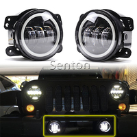 1 Pair 4 Inch 30W Led Fog Light With DRL Angel Eyes For Jeep Wrangler JK