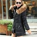Mulheres DownCotton Jaqueta Mulheres Jaqueta de Inverno Moda Gola De Pele Casaco Acolchoado Com Capuz Fino CoatD845