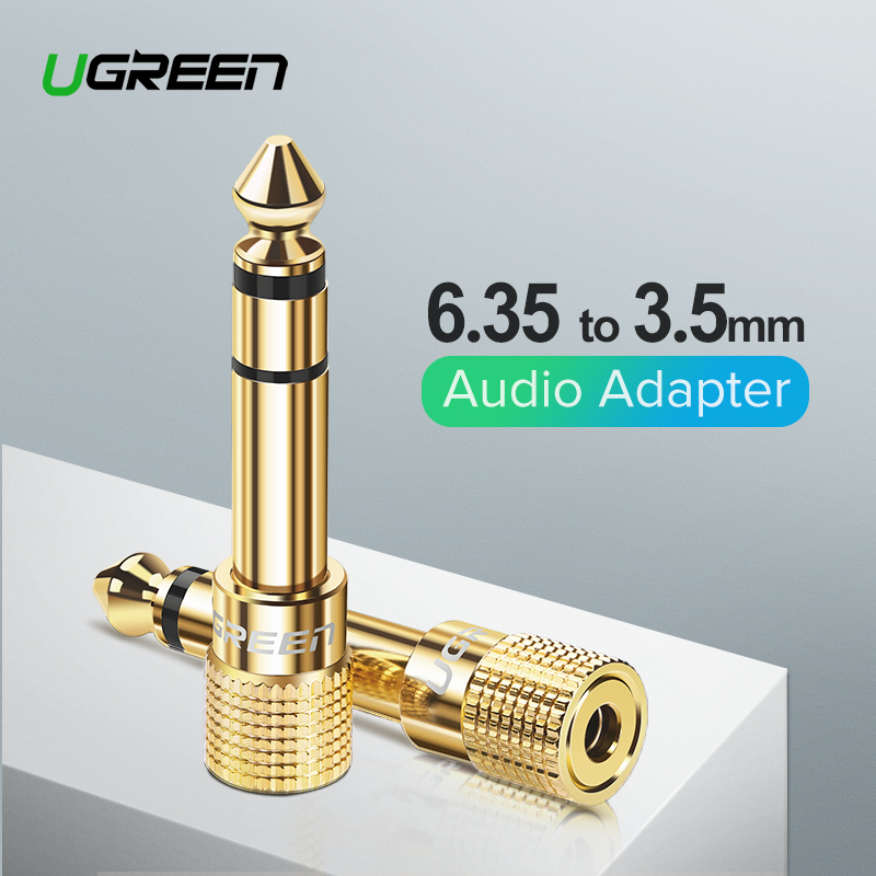 Ugreen Jack 6.35 mm to 3.5 mm Audio Adapter 6.5 6.35mm Male to 3.5mm Female Stereo Plug Connector for Speaker Aux Cable Jack 3.5