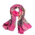 Women's Fashion Peacock Print Long Soft Chiffon Scarf Wrap Shawl Stole Scarves -Y107