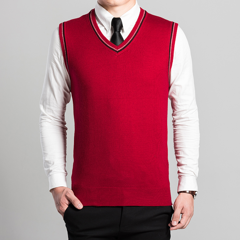 Hot Sale Knitted Sleeeveless Cashmere Sweater Solid Color Cashmere Vest For Man 2016