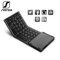 Seenda Vouwen Draadloze Bluetooth Toetsenbord Oplaadbare Toetsenbord Met Touchpad Mini Toetsenbord Voor Ios/Android/Windows Ipad Tablet