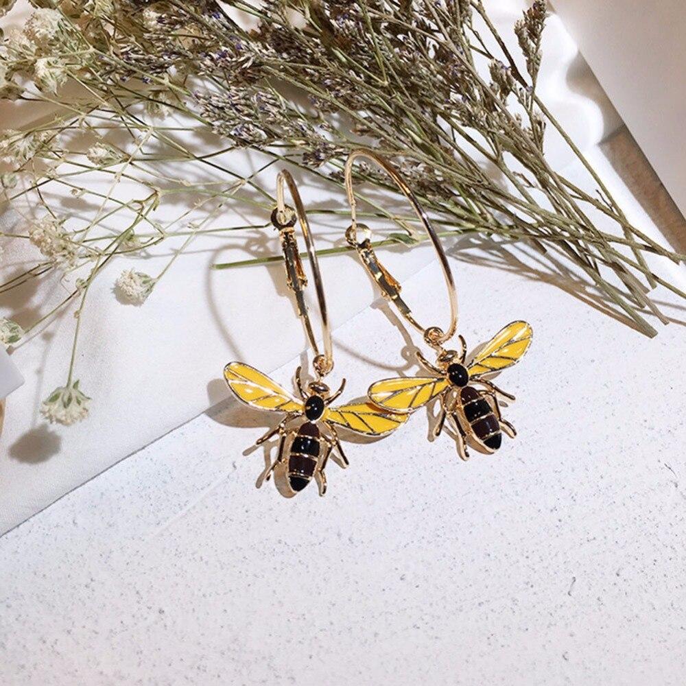 Elegant Cute Rhinestone Wasp Bee Earrings glaze Trendy Delicate Crystal Women Animal Earrings Fine Jewelry Girl Earring
