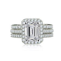 Moonso 2 Carat 9mm Cz Engagement O Finger Anel Aneis Fashion Zircon The Rings For Women