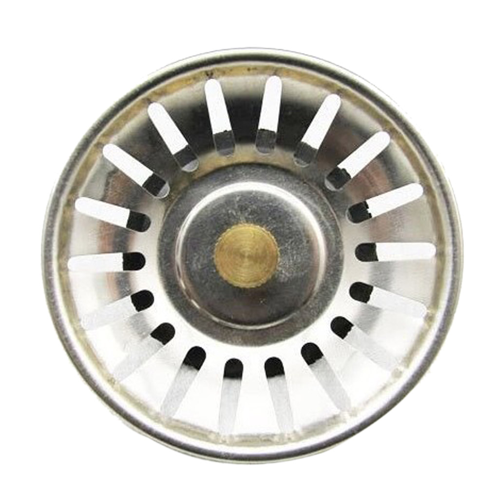 Stainless Steel Grips Family Bathroom Kitchen Water Hole Sink Strainer Drain Basket Stopper Sliver China