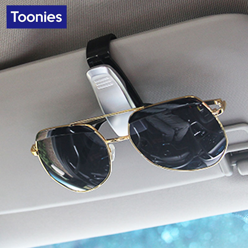 New ABS font b Sunglasses b font Car Eyeglass Holder Smart Fortwo Forfour Card Ticket Pen