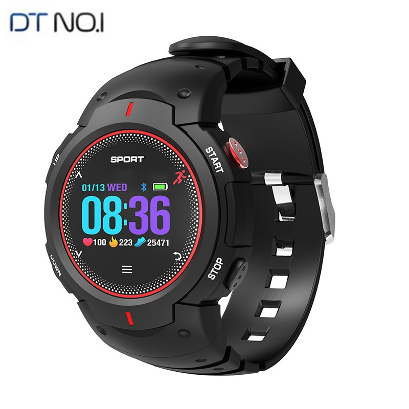 DTNO.1 F13 Bluetooth Smart Watch ip68 Waterproof Multi-sport mode swimming Push Message Fitness Tracker Sport Smartwatch image