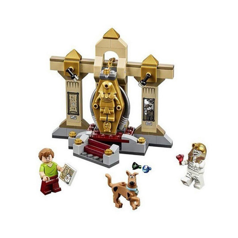 <font><b>10428</b></font> Scooby Doo Mummy Museum 109Pcs Scooby-Doo Building Blocks Educational Toys For Children image