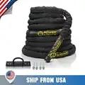 POWER BEGELEIDING Battle Rope Poly Dacron Oefening Golving Touwen GYM Spier Toning Metabole Workout Fitness Anker Inbegrepen